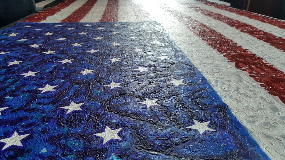 Close Up of The Flag for Hope